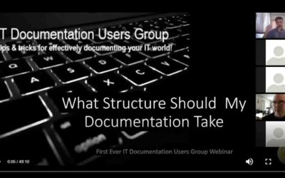 ITDUG 2019.1 – What Structure should my documentation take?